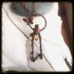 Citrine and Butterfly Necklace