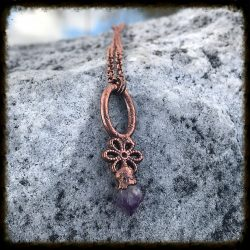 Petite Copper Amethyst Necklace