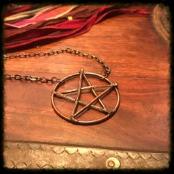 Pine Needle Pentacle Necklace