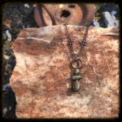 Copper Stone Goddess Pendant