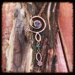 Spiral and Labradorite Necklace