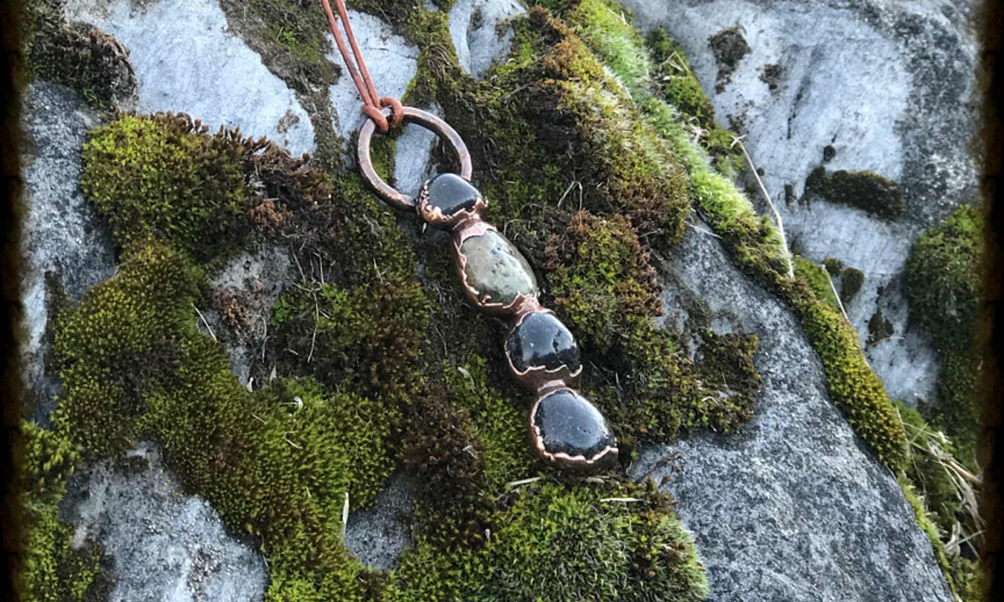 River Stone Cairn Necklace